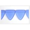 Glass Bead Triangle 17mm Transparent Sapphire Matt - Strung